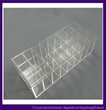 countertop clear acrylic lipstick organizer