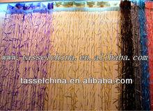 Latest bamboo string curtain, fashion polyester yarn window door curtain