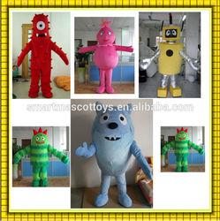 popular adult plex mascot costume yo gabba gabba mascot costumes