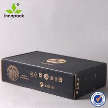 Duplex Foldable Black Corrugated Computer Box