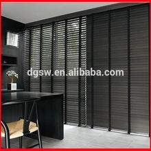 Transparent somfy embossed slats PVC door glass inserts waterproof window blinds