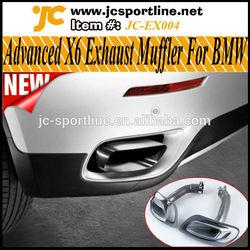 Steel Advanced X6 Car Exhaust Muffler for BMW Fit X6 E71