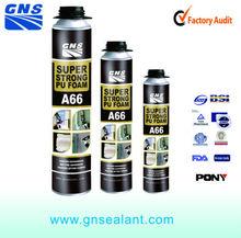 Expanding polypropylene spray strong pu foam