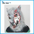 venda quente estranha cabeça cheia de látex assustador lobisomem máscara
