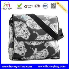 Canvas Fanfare City Custom Made messenger diaper bag for mom