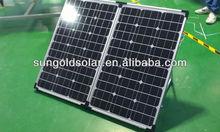 2X60w Australia high power portable folding solar panel kit