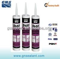 Waterproof black rtv silicone sealant for bathroom production line