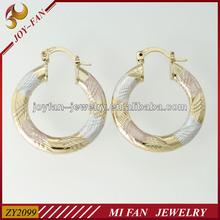 Cheap earring gold plated,fashion fake gold earrings,plain gold earrings