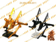 Aftermarket Motorcycle CNC Rearset Rear Set for Front Foot Peg Foot Rest 2009 10 11 ZX-6R ZX6R ZX636 Gold Black