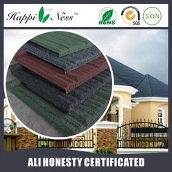 Heat Proof Colorful Stone Coated Steel Roofing Tile