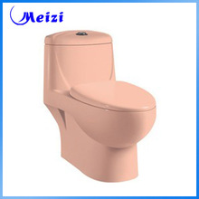 Siphonic ceramic pink one piece toilet supplies