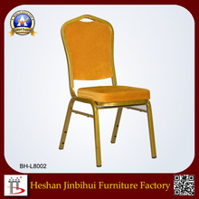 hotel fabric metal design chair dinning