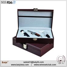 Wholesale price best fancy wine bottle opener with luxury leather box