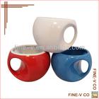 Novelty travel colored coffee mug,accept customized logo printing