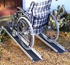 Telescopic Ramp, electric wheelchair, power wheelchair, automatic wheelchair, lightweight wheelchair, wheelchairs