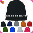 plain sports winter black knitted beanie