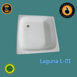 Square Cast Iron Bath, square bathtub, square cast iron shower tray