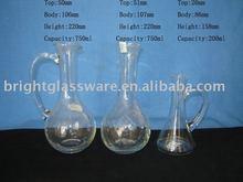 vegetable oil and vinegar and wine bottle/jar