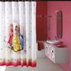 printed fariy fabric curtain with 12 hooks shower curtain