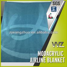 Jacquard woven airplane blanket Modacrylic flame retardant airline blanket Chinese manufacturer