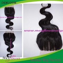 wholesale malaysian human 3 way part silk base top closure hidden knots