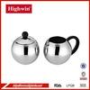New style single wall S/S milk jug and sugar bowl set