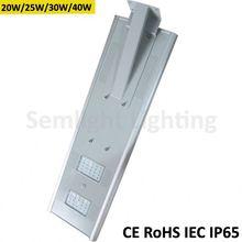Integrated solar panel/battery/controller/led light 110lm/w easy install all in one solar street light esl-16