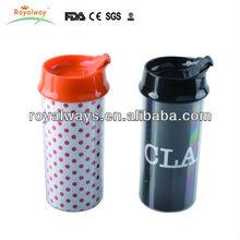 16oz Double Wall Plastic Photo Insert Travel Mug With Lid