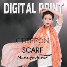Textile Printing Silk Scarves digital silk scarf printing - Z0053