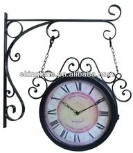 outdoor double sided garden wall clocks