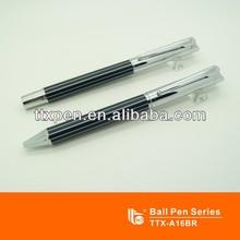 Striated business pen set, ball pen roller pen