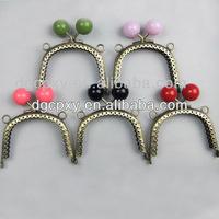 Antique brass DIY sewing candy fancy kiss lock purse frames