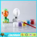 2014 eco- friendly brinquedo educacional gesso verde brinquedo diy bubble cabeça do papagaio