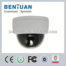 High Resolution 700TVL Advanced DSP Plastic Casing Built-In OSD Dome Type Camera Without IR LEDs Color Image In Day Night