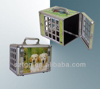 Simulate the aluminum finish PVC Dog cage ,Pet Carrier SDG17