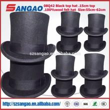 Wholesale perfect man black top hat with size 55cm-62cm