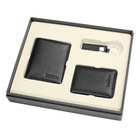 3PCS Set with Gift Box Genuine Leather Wallet Credit Card Holder Key Holder Custom Made Cheap Wallet gift set