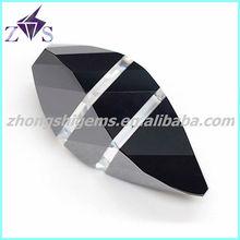 shuttle shape multi-color synthetic zircon wholesale