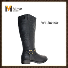 Minyo Woman cheap classic cowboy boots with ring buckle wholesale China
