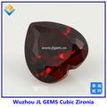 2014 vendita calda a forma di cuore granato zirconi pietra con AAA per abito da sera