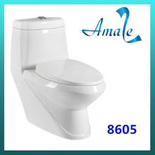 Bathroom ceramic S-trap 250mm one piece toilet