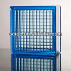 190x190x80mm decorative clear and coloured parallel pattern GLASS BLOCK/BRICK
