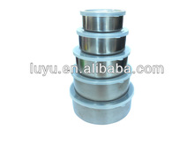 High quality Stainless Steel Food Container with PP Lid 5pcs/set