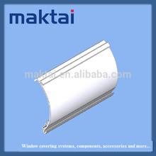 window blind component curved white aluminium fascia