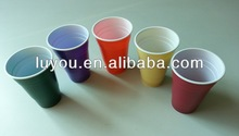 PS colorful plastic beer cup