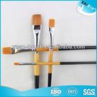 goat hair flat wooden handle art watercolor paint brush