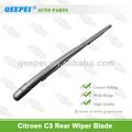 De haute qualité arrière wiper blade& bras essuie glace arrière pour citroen c3 berline voiture