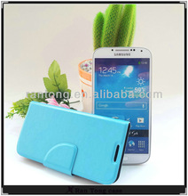 Wholesale custom stand cover for samsung galaxy s4 leather case,100 models