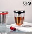Ast3303_forขายpyrexแก้วคู่ผนังที่มีการออกแบบชาi nfuserแก้ว304s/s