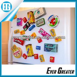 Custom 3D soft fridge magneticpvc PVC car magnetic Personalized pvc fridge magnets sticker fridge pvc magnets
